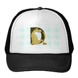 Pony Monogram Letter D Trucker Hat