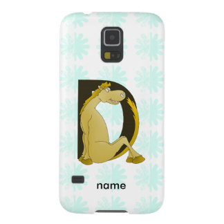 Pony Monogram Letter D Galaxy S5 Cases