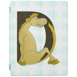 Pony Monogram Letter D iPad Cover