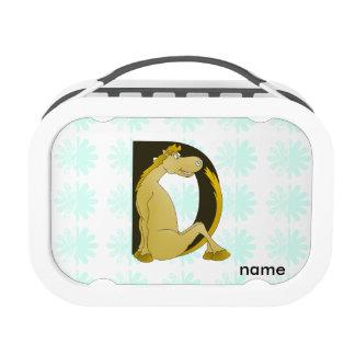 Pony Monogram Letter D Yubo Lunchbox