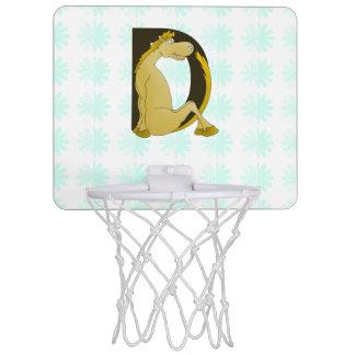 Pony Monogram Letter D Mini Basketball Backboards