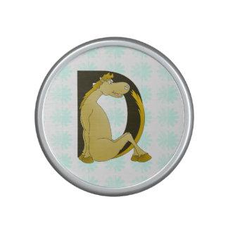 Pony Monogram Letter D Bluetooth Speaker