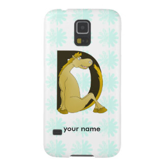 Pony Monogram Letter D Personalized Galaxy S5 Cover