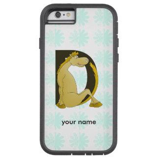 Pony Monogram Letter D Personalized Tough Xtreme iPhone 6 Case