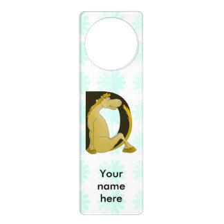 Pony Monogram Letter D Personalized Door Hanger