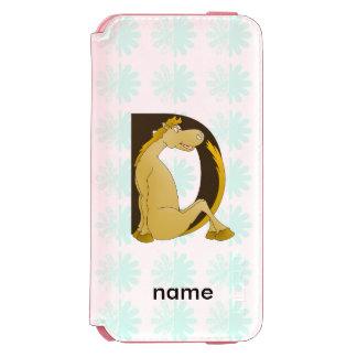 Pony Monogram Letter D Personalized Incipio Watson™ iPhone 6 Wallet Case