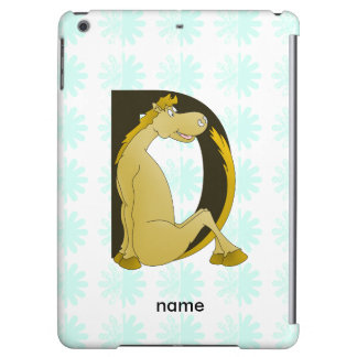 Pony Monogram Letter D Personalized iPad Air Covers
