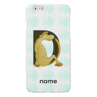 Pony Monogram Letter D Personalized iPhone 6 Plus Case