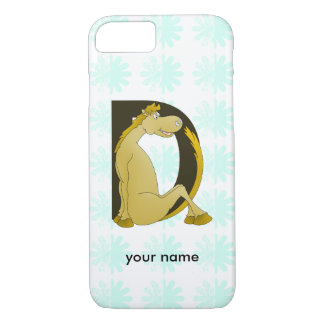 Pony Monogram Letter D Personalized iPhone 7 Case