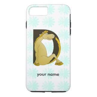 Pony Monogram Letter D Personalized iPhone 7 Plus Case