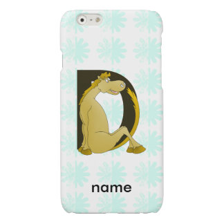 Pony Monogram Letter D Personalized Glossy iPhone 6 Case