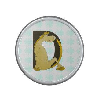 Pony Monogram Letter D Personalized Speaker