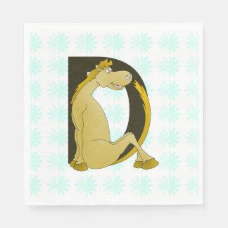 Pony Monogram Letter D Personalized Standard Luncheon Napkin