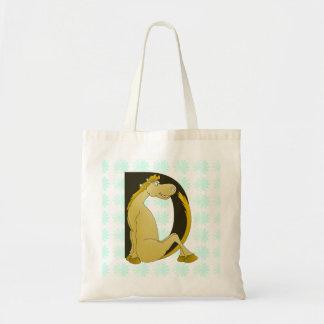 Pony Monogram Letter D Bag