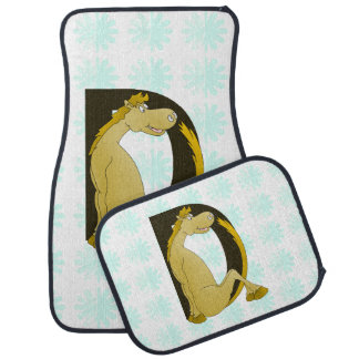 Pony Monogram Letter D Floor Mat