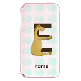 Pony Monogram Letter E Personalized Incipio Watson™ iPhone 6 Wallet Case
