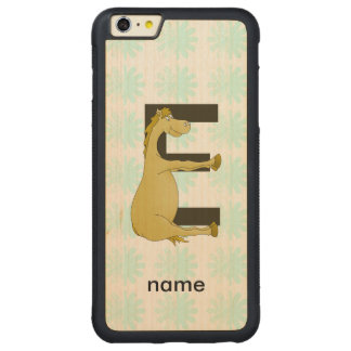 Pony Monogram Letter E Personalized iPhone 6 Plus Case