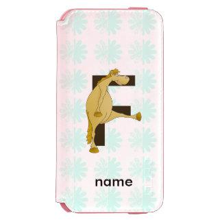 Pony Monogram Letter F Personalized Incipio Watson™ iPhone 6 Wallet Case