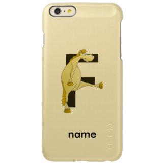 Pony Monogram Letter F Personalized iPhone 6 Plus Case