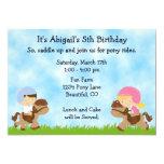 Pony Party Birthday Invitations for Girls and Boys 13 Cm X 18 Cm Invitation Card