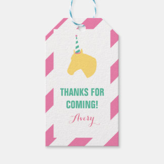 Pony Party Personalized Gift Tag Pink