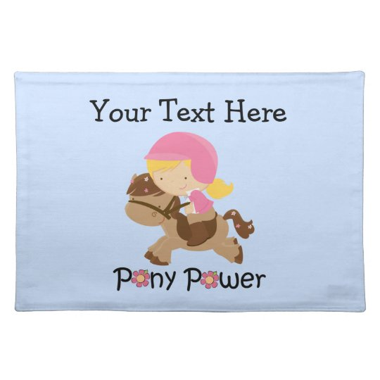 Pony Power Customisable Placemat