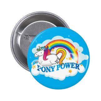 Pony Power Unicorn Classic Button