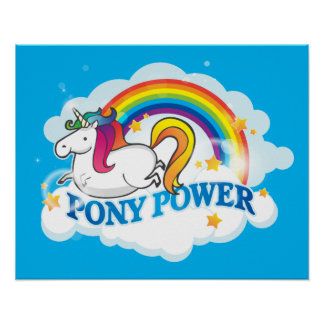 Pony Power Unicorn Poster
