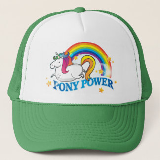 Pony Power Unicorn Trucker Hat