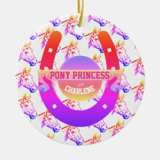 Pony Princess Christmas Ornament
