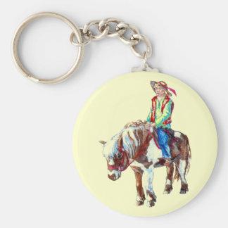 Pony rider keychain