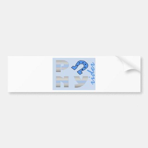PoNY rider side blue Car Bumper Sticker