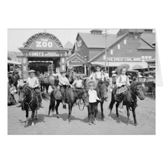 Pony Riders at Coney Island, 1904 Greeting Card