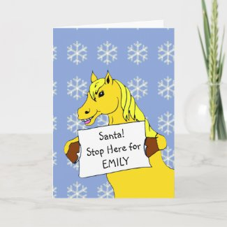 Pony Santa Stop Here Christmas