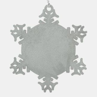 Pony Snowflake pewter hanging ornament