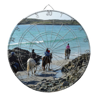 Pony trekking along the beach dartboards