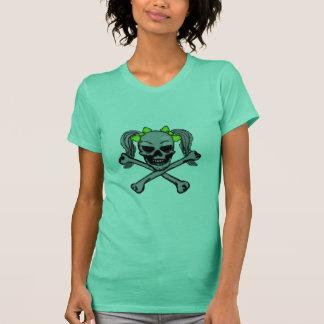 Ponytail skull w/ green bows T-Shirt
