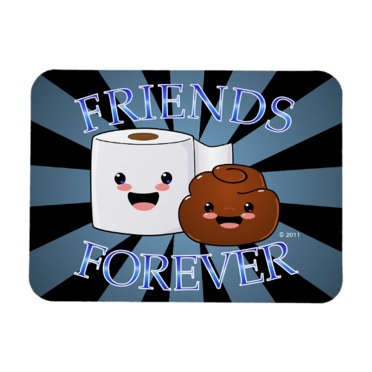 Poo and Toilet Paper Friends Forever Rectangular Photo