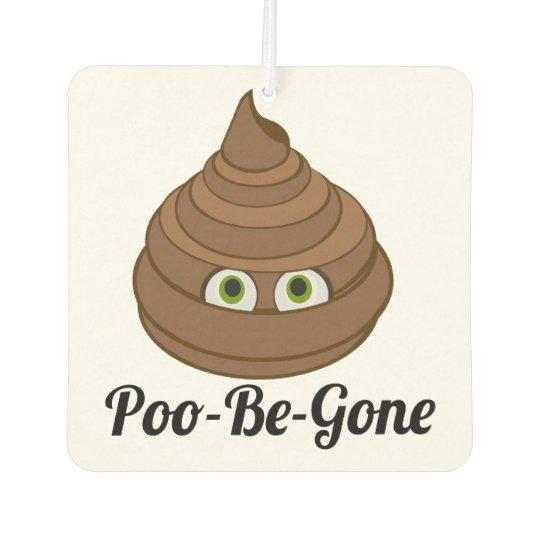 Poo-Be-Gone Funny Car Air Freshener