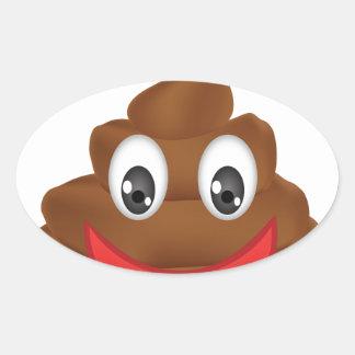 poo emojis oval sticker