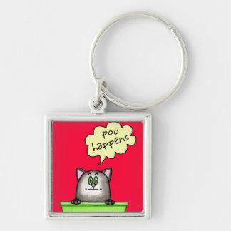 Poo Happens Keychain