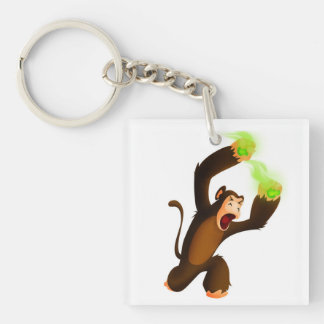Poo Monkey Keychain