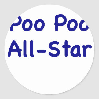 Poo Poo All Star Stickers