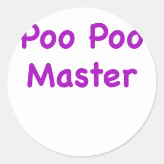 Poo Poo Master Round Sticker