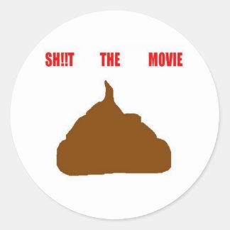 poo round sticker