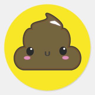 Poo Sticker! Classic Round Sticker