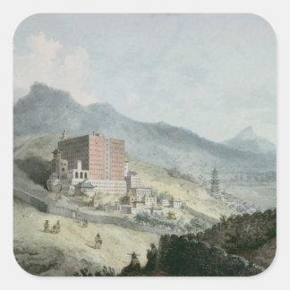 Poo Ta La, or Great Temple of Fo Square Sticker