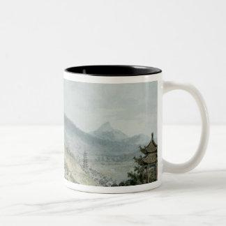 Poo Ta La, or Great Temple of Fo Two-Tone Coffee Mug