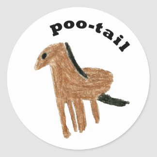 poo-tail sticker