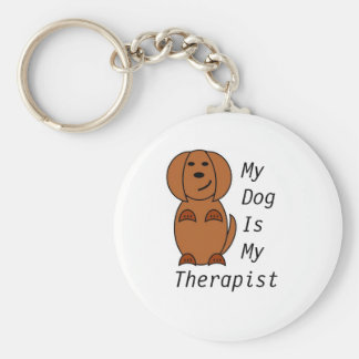 Pooch Therapy Keyring Basic Round Button Key Ring
